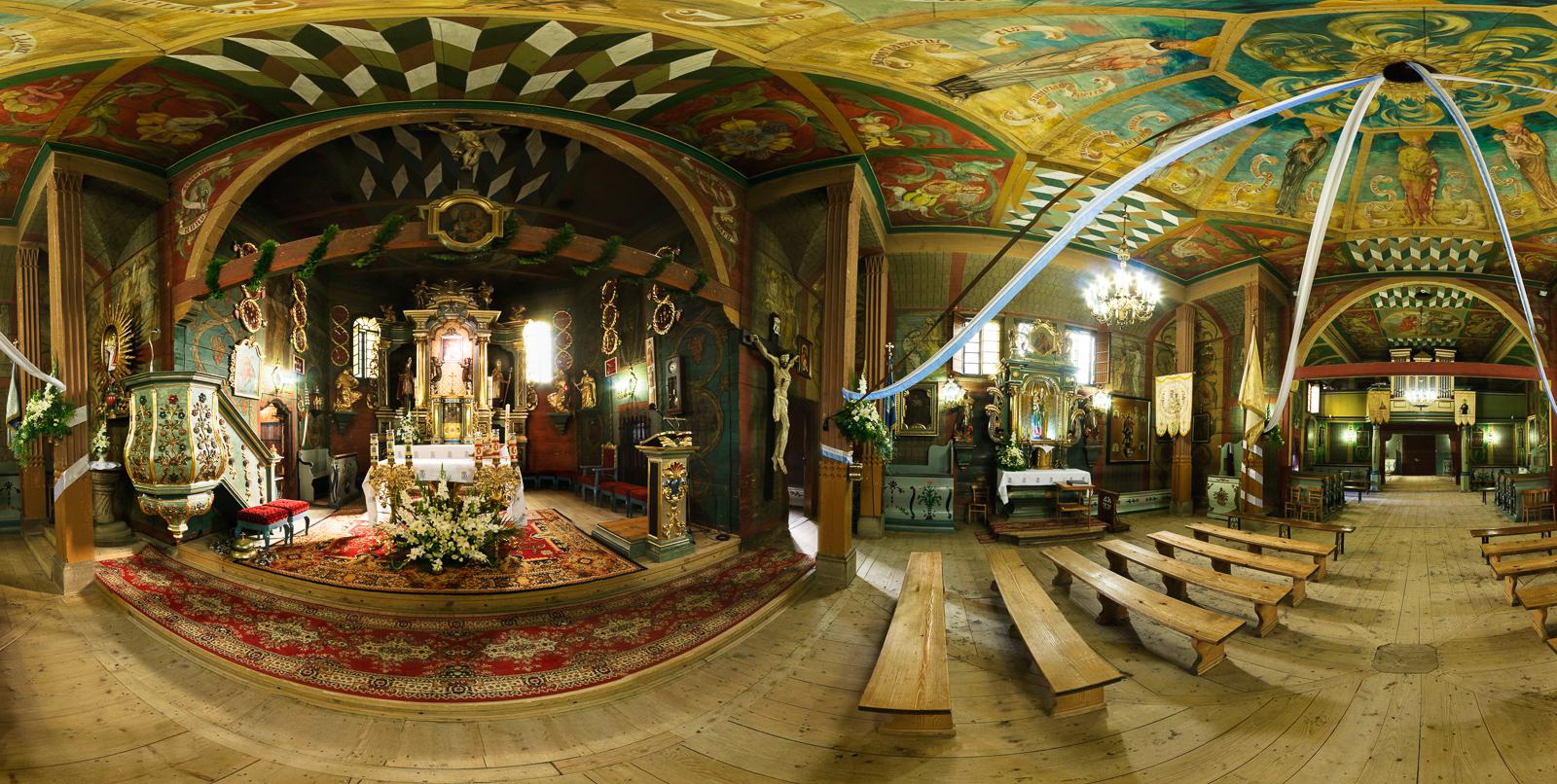 Ptaszkowa, kościół pw. Wszystkich Świętych - wirtualna wycieczka