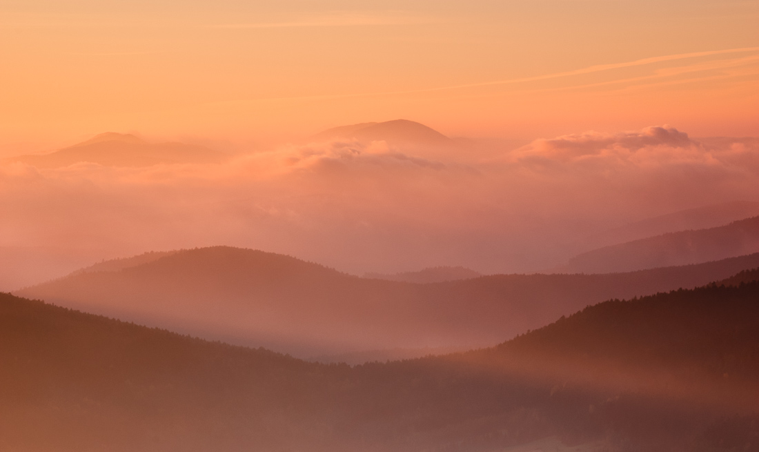 Krajobraz Beskidu Niskiego, gmina Grybów