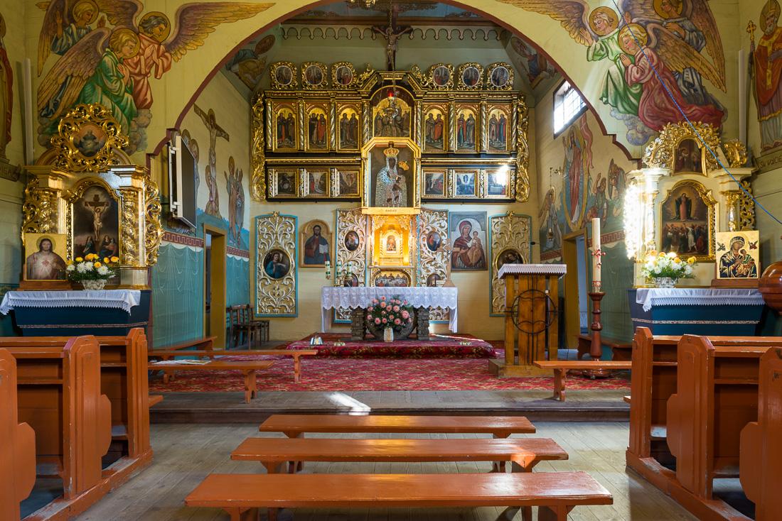 Binczarowa, dawna cerkiew pw. św. Dymitra Męczennika, obecnie kościół pw. św. Stanisława Biskupa Męczennika - wirtualna wycieczka