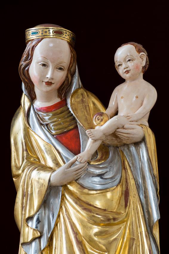 Kopia słynnej Madonny z Krużlowej - jednej z najsłynniejszych, gotyckich rzeźb