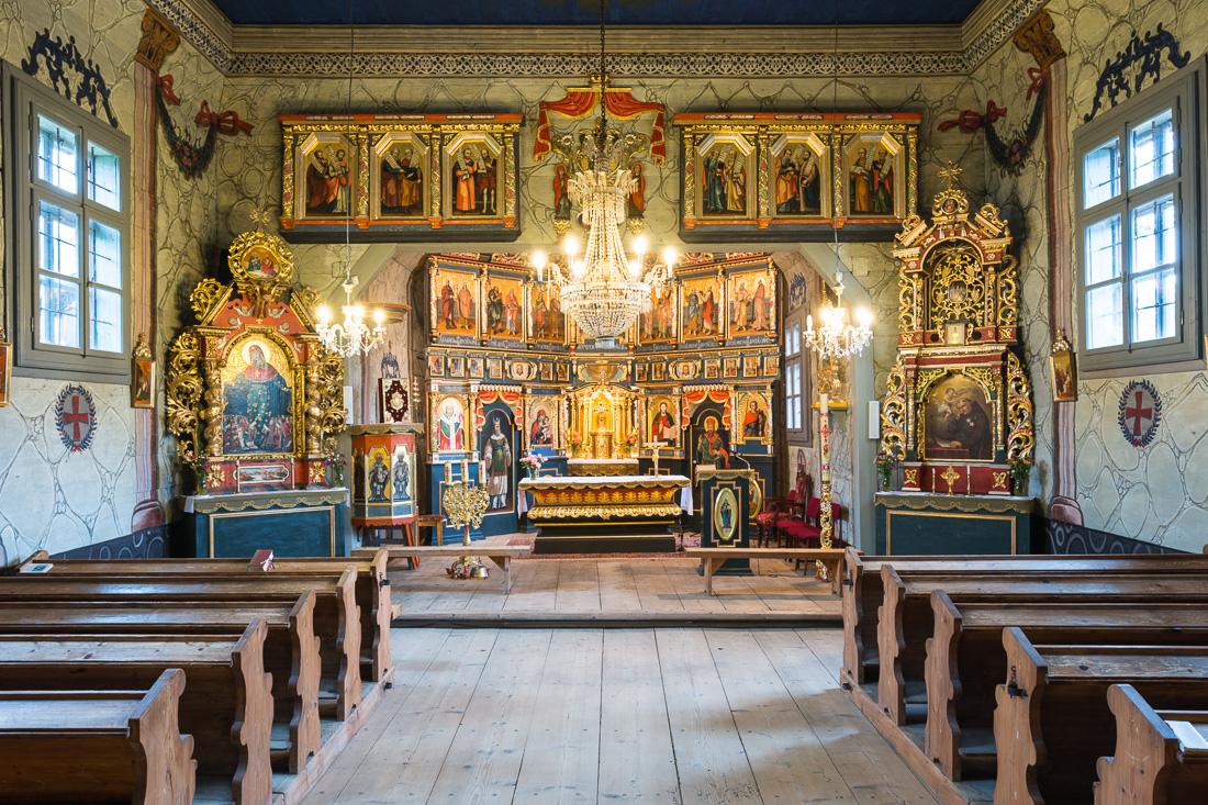 Bogusza, dawna cerkiew Św. Dymitra, obecnie kościół pw. św. Antoniego Padewskiego - wirtualna wycieczka