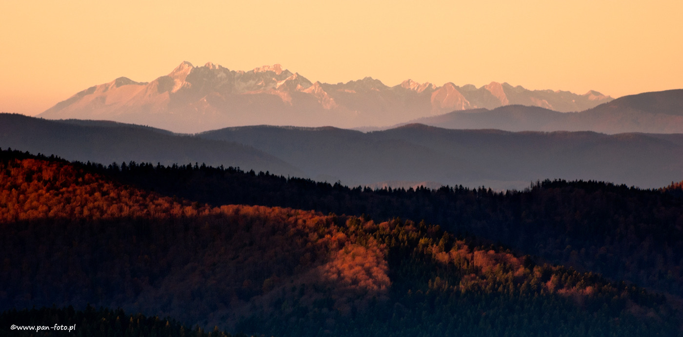Tatra mountains from Beskid Niski