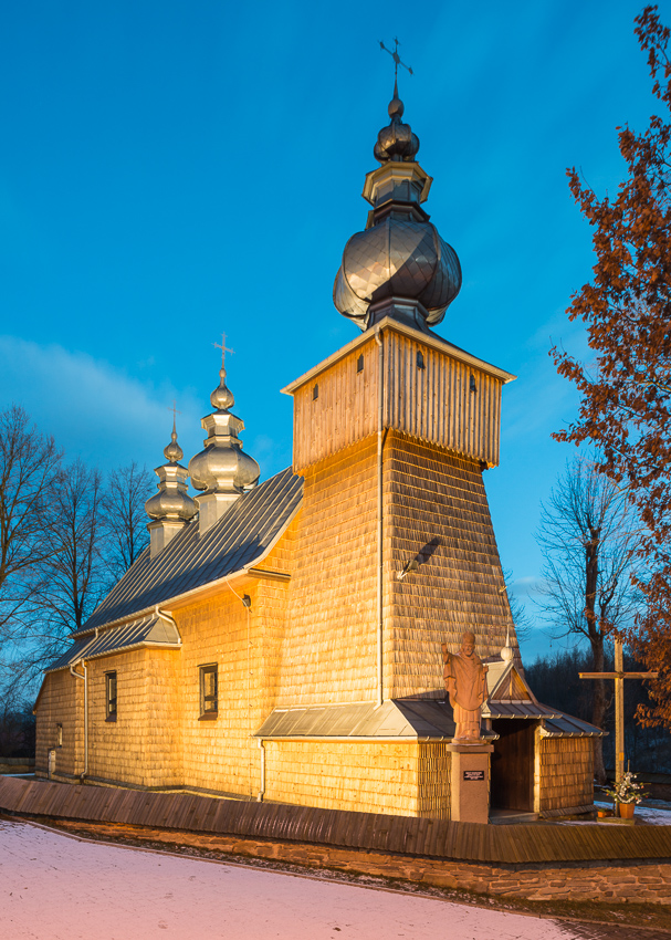 Binczarowa, Lemko Orthodox church of St Martyr Demetrios (currently catholic church or ST Stanislaus the Martyr)
