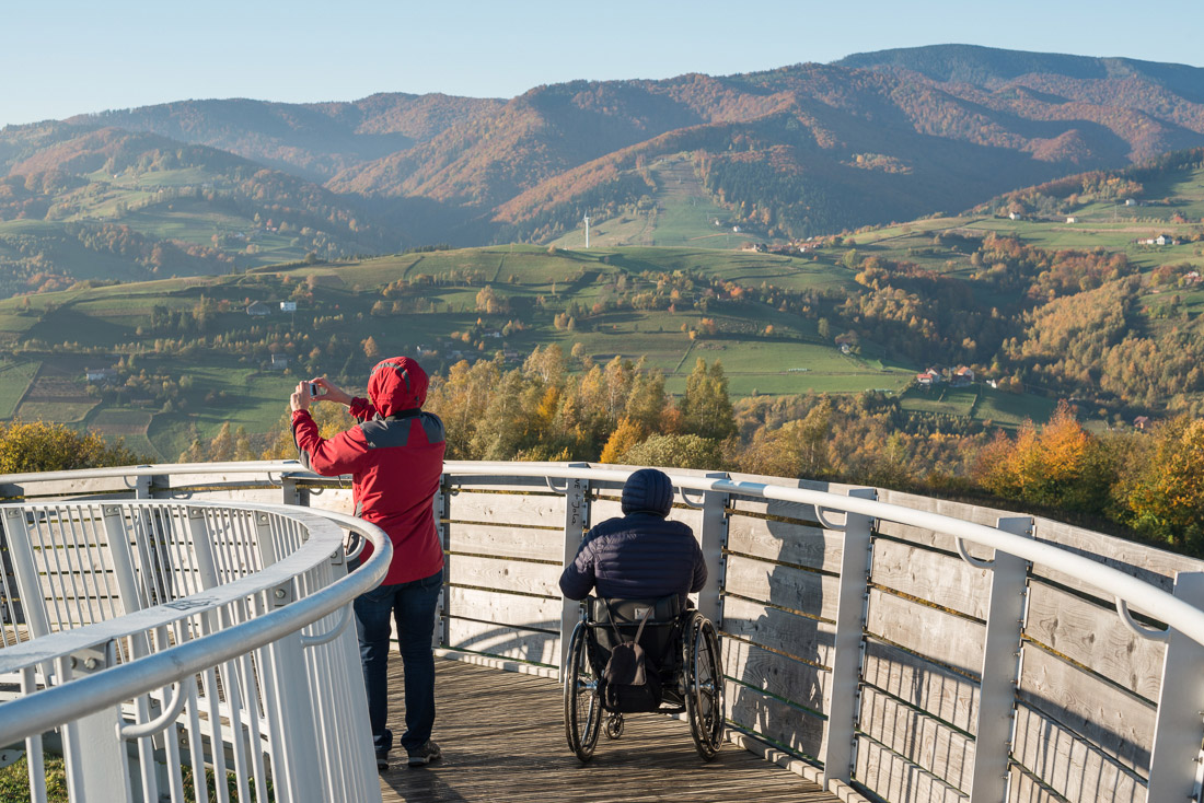 Landscape photography plein-air in Beskid Sądecki mountain range, image by K. Ligęza